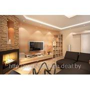 Комплект гостиной (для зала) мебели под заказ от производителя из ДСП, акрила, МДФ, пластика фото
