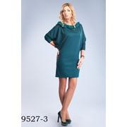 9527 Трикотажное платье, свободного силуэта фото