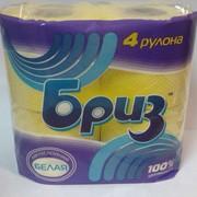 Туалетная бумага Бриз из 100% целлюлозы цветная фото