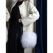 Шерстяное пальто с утеплителем и с натуральным мехом Ламы фото