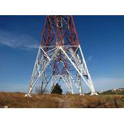 Антенные мачты Башенные конструкции Базовые станции мобильной связи Вышки Металлоконструкции любой сложности. Сооружения антенно-мачтовые мачты антенные (база 300 400 600 и 650 мм покрытие - горячий цинк). Измерительные мачты высотой до 80 м. фото