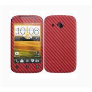 Виниловая наклейка на телефон HTC Desire C под карбон 3D Красная фото