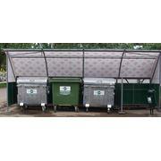 Площадки для мусорных контейнеров. фото
