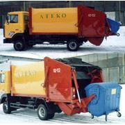 Мусоровоз КО-432 (KO-432) с задней загрузкой вместительность кузова 12 м.куб базовое шасси МАЗ-437041 коммунальная техника пр-во АТЕКО фото