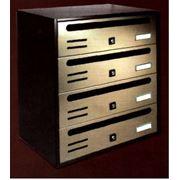 Почтовые ящики для многоквартирных домов Alubox почтовые ящики противовандальные для писем почтовый ящик четырех секционный. фото