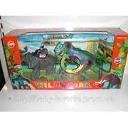 Игр Динозавр 700-35-7-9 (12шт) Дикий мир, 3 вида, звук, свет, в кор-ке, 56-28-15см (шт.) фото