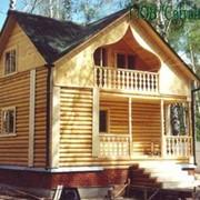Дома из оцилиндрованного бруса фото