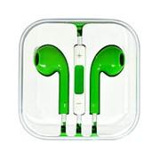 Наушники с микрофоном зелёные фото