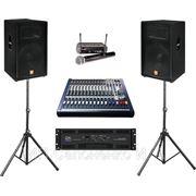 Комплект звукоусилительной аппаратуры ( звук аренда прокат) фото