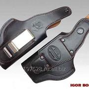 Кобура для пистолета ПМ поясная модель Falcon N07 Luxe фото