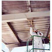 Огнебиозащитная обработка деревянных конструкций фото