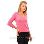 Кофта разноцветные сердца розовый Артикул 163 фото