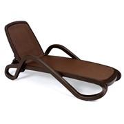 Лежак Alfa шоколадный фото