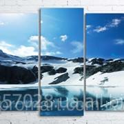 Модульна картина на полотні Гірське озеро код КМ100200(176)-085 фото