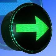 Noname Вкладыш зеленого свечения 200 мм стрелка правая питание 220В для лампового дорожного светофора арт. СцП23450 фото