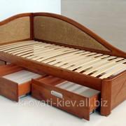 """Кровать деревянная """"Анна"""" с ящиками фото"""