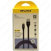 USB Data кабель Awei CL-54 Lightning 1.5m Black фото
