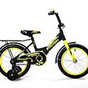 Велосипед Black Aqua DK-1205 12 (Черный+лимоный) фото