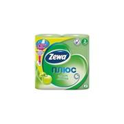 Туалетная бумага Zewa Яблоко 2-слойная, зеленая (4шт/уп)(24шт/кор) фото