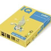 Бумага цветная iq color A4, 160г/м2, cy39 канареечно-желтый 250 л. CY39-160 фото