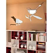 Оригинальное зеркало в виде птиц арт 5107 фото