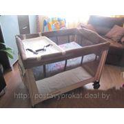 """НАПРОКАТ Манеж-кровать от Mothercare """"Сахара"""" (в 2 уровня) с пеленальным столиком,кокосовым матрацем фото"""