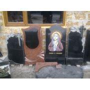 Изготовление надгробийритуальных памятников из камня фото