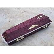 Отделка гробов (шёлк атлас бархат и т. д.) фото