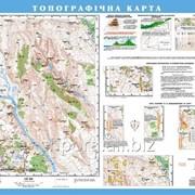 Топографічна карта, м-б 125 000 (на планках) фото