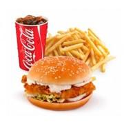 Доставка бургеров - Комбо Меню Cheeken burger фото