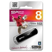 USB накопитель Silicon Power 8GB Luxmini 322 black фото