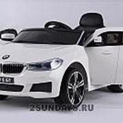 Детский электромобиль BARTY BMW 6 GT JJ2164 белый фото