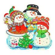 Плакат декоративный новогодний Сфера 45х48 см., Ф-012060 фото
