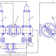 Блок №22 предохранительных клапанов с переключающими устройствами ПУ 100-16-01 Сталь 20Л фото