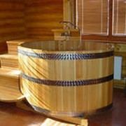 Купель для бани деревянная круглая диаметр 1.8 метр фото