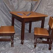 """Комплект детской мебели """"Капитошка""""из бука. Стол+2 стула фото"""