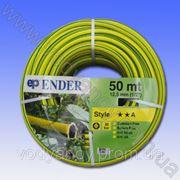 Шланг поливочныйПВХ ENDER_STYL d-12,5 мм (1/2') pn 20, поливочный на резин. основе, усиленный ЖЕЛТЫЙ 50м. фото