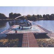 Вертолетные площадки на воде. фото