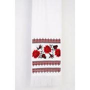 Свадебный рушник ручной работы с вышитыми цветами (МА-0021) фото