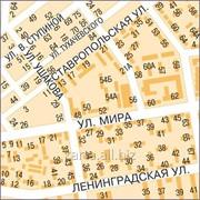 Карта Тольятти настенная 150х200 см фото