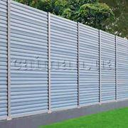 Заборы шумозащитные из ПВХ шумозащитные экраны ограждения пластиковый шумоизоляционный забор из ПВХ фото