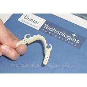 Прессовка каркасов бюгельных протезов из ацетала под цвет зубов. фото