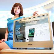 Прозрачные LCD дисплеи Samsung фото