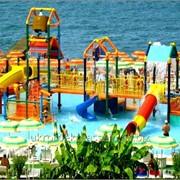 Горки для бассейнов (детские водные горки, фонтаны и души, водные дорожки, трамплины фото