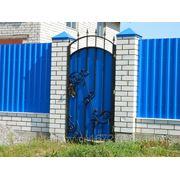 Работы по изготовлению заборов, ворот ковынных изделий фото