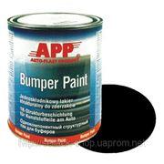 020801 Краска структурная для бамперов однокомпонентная <APP-Bumper Paint>, 1л, черная фото