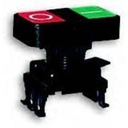 Кнопка сдвоенная (черная) ON-OFF HD15G3 ON – Зелёный/OFF - Красный (4770028) фото