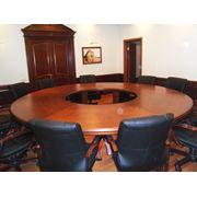 Конференц - стол из ольхи. Изготовление мебели на заказ в Киеве фото