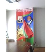 Государственная символика, геральдические панно — плакаты с гимном, гербом и флагом РБ. фото