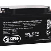 Аккумуляторная батарея Kiper GPL-12650 12V/65Ah фото